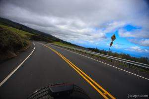 Speeding along the Haleakala Highway