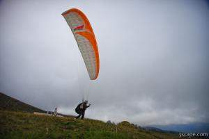 Paragliders taking off from Haleakala