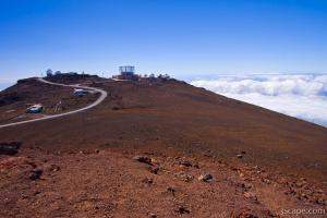 Haleakala Observatory on top of the crater