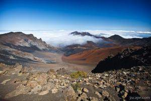 Multicolored crater of Haleakala Volcano