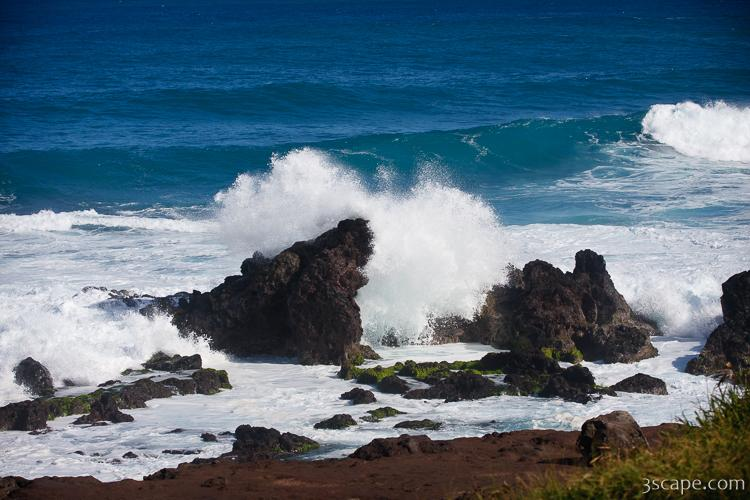 Maui's rugged coast near Hookipa Beach Park