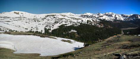 Panoramic view of the Colorado Rockies from Loveland Pass