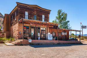 HDR image of historic Bedrock Store, Colorado