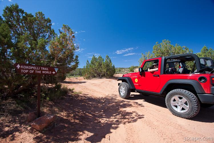 Jeep Rubicon at Top of the World 4x4 trail