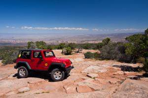 Jeep Rubicon at the end of Top of the World 4x4 trail