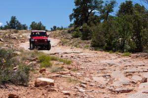 Jeep Rubicon on Top of the World 4x4 trail