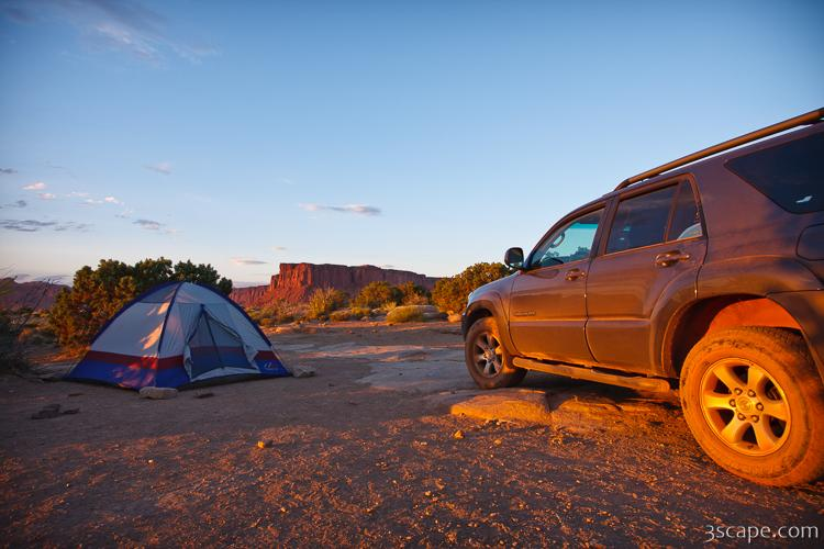 Toyota 4Runner and tent at Murphy Hogback c&ground & Toyota 4Runner and tent at Murphy Hogback campground Photograph ...
