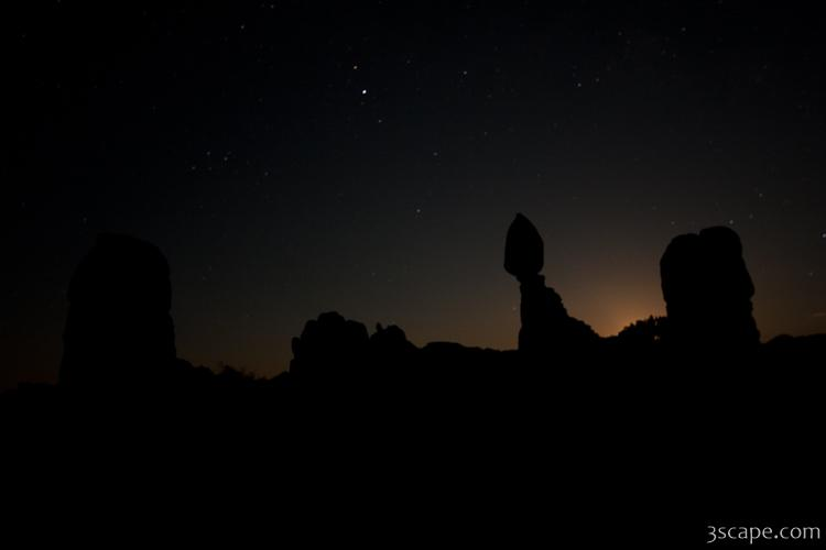 Silhouette of Balanced Rock in Arches National Park