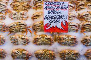Cooked Dungeness Crab at Pike Place Fish Market