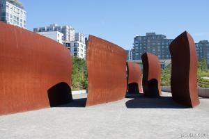 Wake sculpture in Olympic Sculpture Park