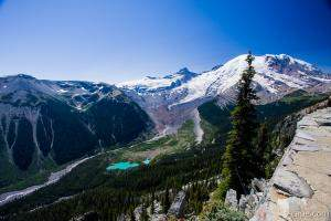 Mt. Rainier and Emmons Glacier from Sunrise Rim Trail