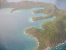 Aerial view of Virgin Islands
