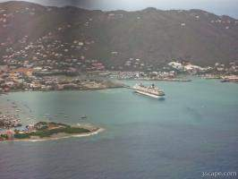 Aerial view of Road Town, Tortola