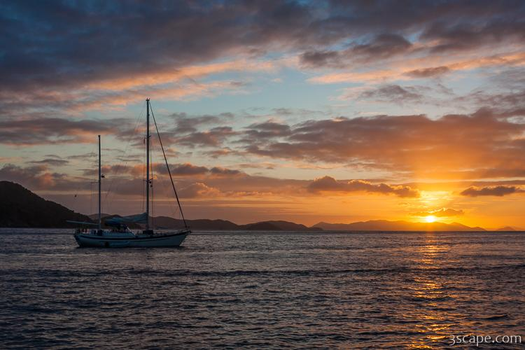 Sunset in BVI