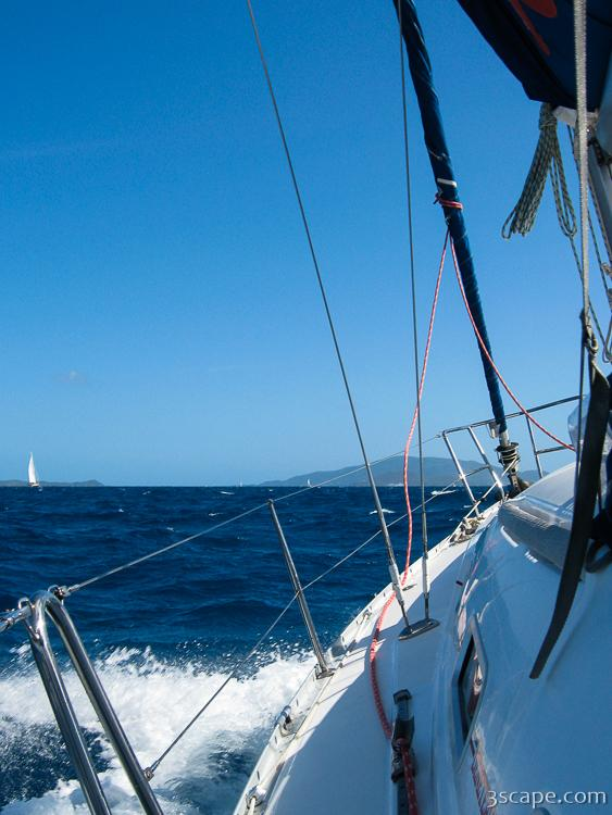 Sailing from Copper Island to Virgin Gorda