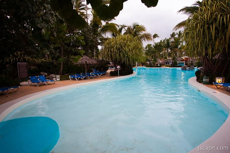 One of three large pools at Melia Caribe