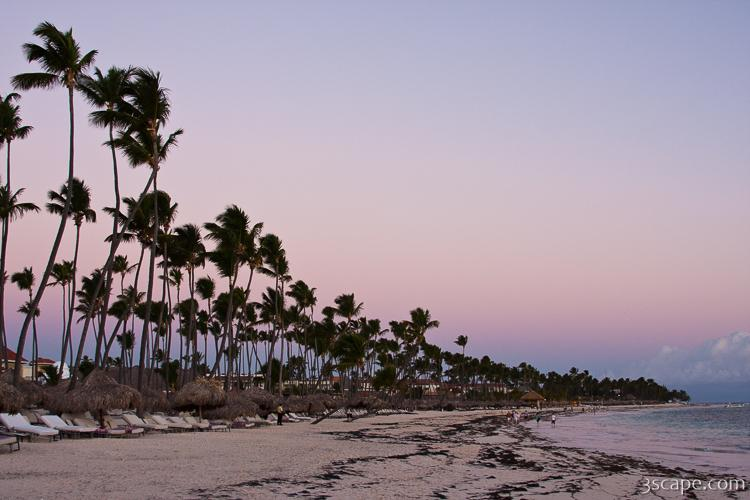 Punta Cana beach at sunrise
