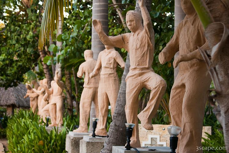 Statues on the resort