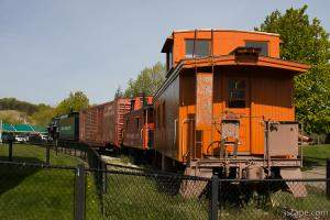 Old Pere Marquette Railroad Co. train