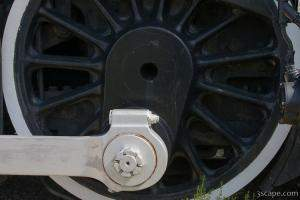 Big locomotive wheel