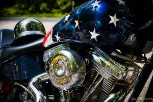 Stars and Stripes chopper