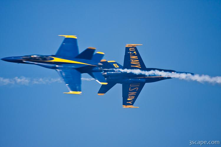Blue Angels crossing paths