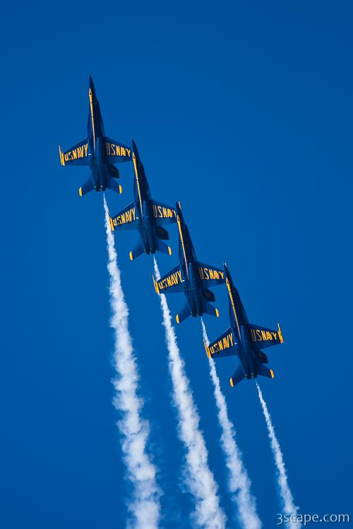 Blue Angels in tight formation