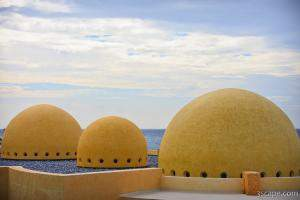 Domes on the roof of the restaurant buildings