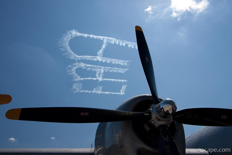 EAA sky writing over B-29