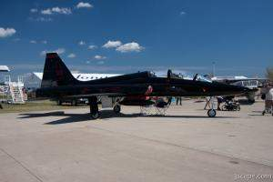 Black/Red T-38 Talon of 9th Reconnaissance Wing