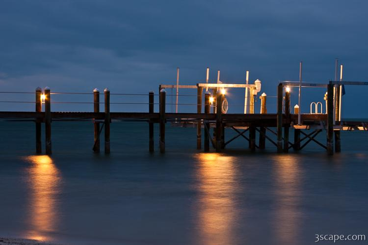 Night lights on the pier, Marathon Key