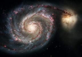 The Whirlpool Galaxy (M51) and Companion