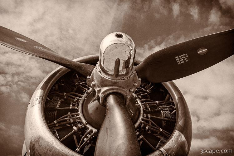 8d3b93114df Vintage B-17 Flying Fortress Canvas Print - Landscape   Travel ...