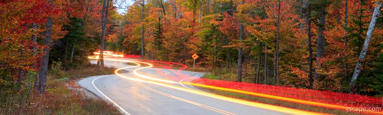 Door County Curvy Road Panoramic Route 42 Photograph