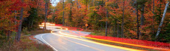 Door County Curvy Road Panoramic (Route 42)