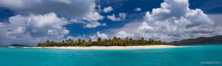 Sandy Cay Beach British Virgin Islands Panoramic Fine Art Canvas Print