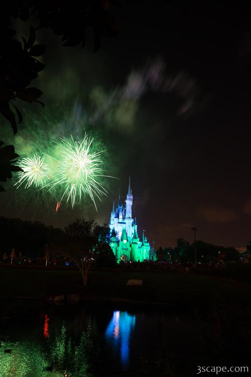 Disney Castle Fireworks and Light Show