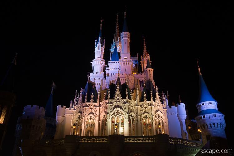 Cinderella S Castle At Night Metal Print Landscape Travel