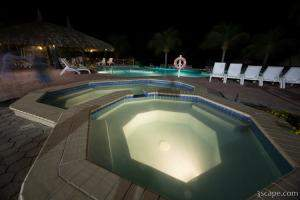 Sunscape Resort Pool at Night