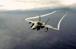 F/A-18 Hornet over the Pacific