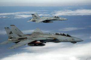 F/A-18 Hornet and F-14D Tomcat