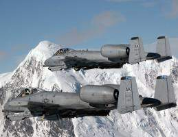 A-10 Thunderbolt II in formation