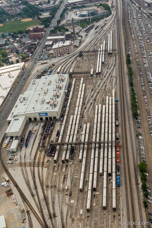 Western Avenue Metra Train Yard Photograph - Landscape ...