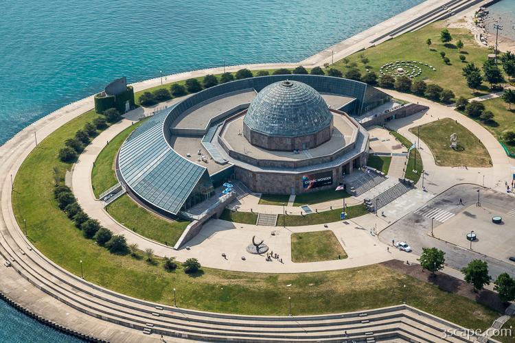 adler planetarium aerial fine art print landscape travel
