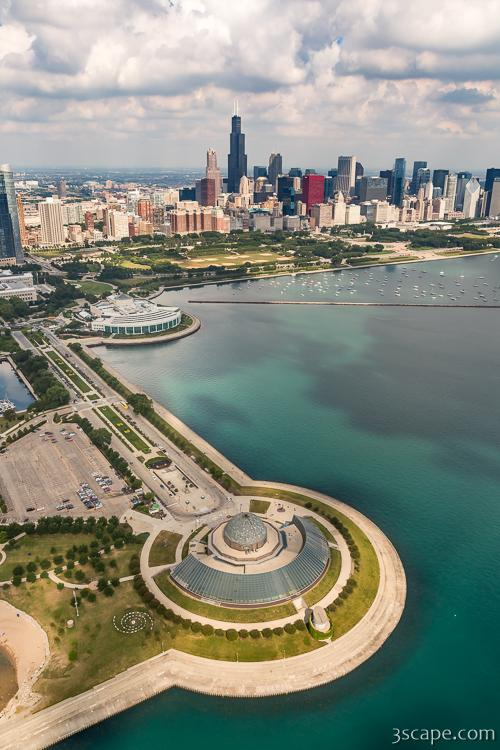 Adler Planetarium, Shedd, and Chicago Skyline
