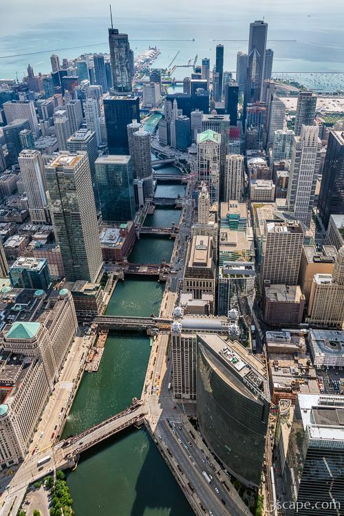 Chicago River Aerial