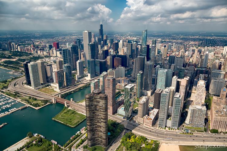 Downtown Chicago Aerial Photograph Landscape Amp Travel