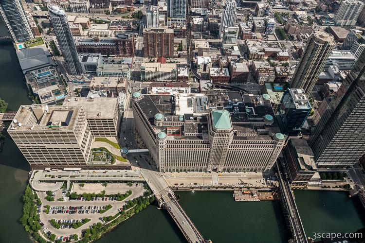 Wolf Point, Merchandise Mart, Suntimes Building