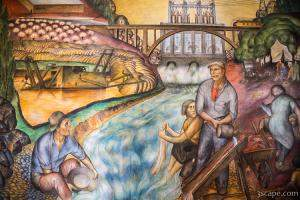 California Industrial Scenes Mural in Coit Tower