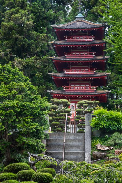 Pagoda in Japanese Tea Garden - Golden Gate Park Photograph ...